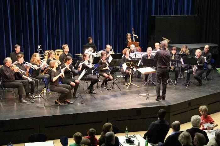 Musikverein Littenweiler auf der Bühne der PH Freiburg